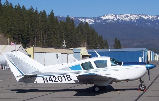 N4201B on the ramp in Quincy California