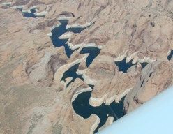 lake powell and rainbow bridge from the air. Black Bedroom Furniture Sets. Home Design Ideas